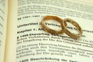 Scheidung mit Ehevertrag