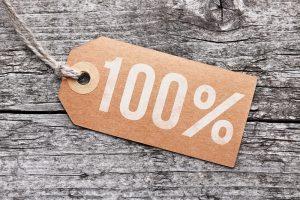 100% Schild
