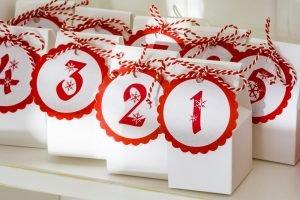 Geschenktüten für einen Adventskalender