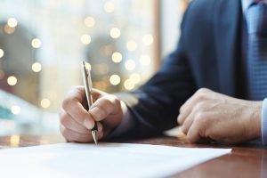 Unterzeichnung Betreuungsvollmacht
