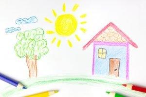 Kinderzeichnungen Haus