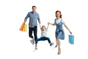 Shoppen als Familie