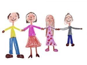Kinderzeichnungen Familie