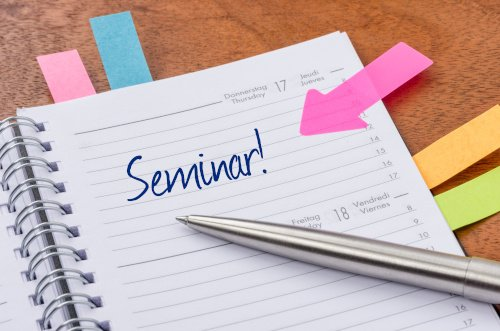 Kalender mit Seminareintrag