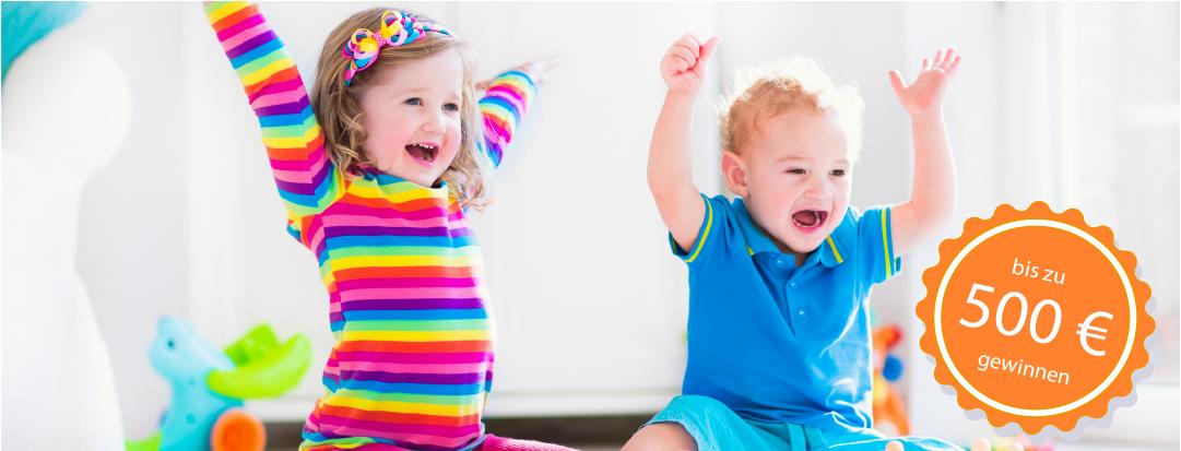 Kinder spielen froehlich