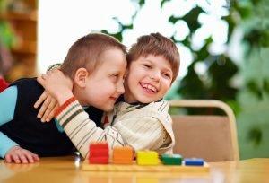 Kindergarten mit behinderten Kindern