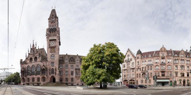 Saarbrücken Rathausplatz Panorama