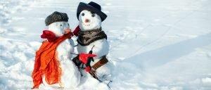 Skulpturen aus Schnee