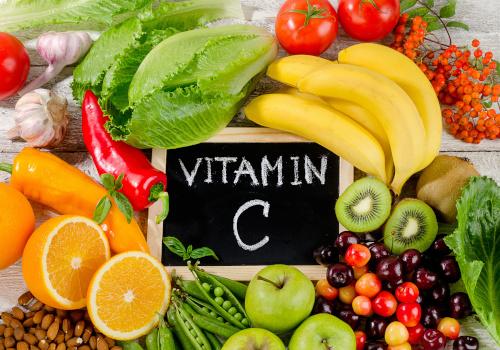 Tafel Vitamin C mit Obst