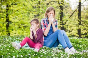 Kinder mit Allergien in unterschiedlichem Alter
