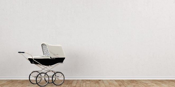 altmodischer Kinderwagen