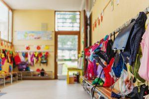 Flur eines Kindergartens