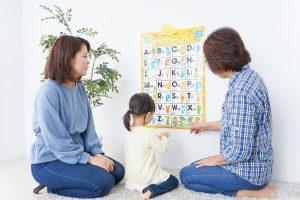 Familie mit Kind bei Spracherziehung