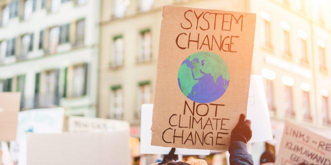 Demoplakat Klimaschutz