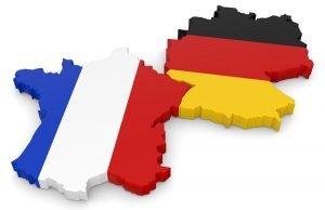 umrisse von deutschland und frankreich