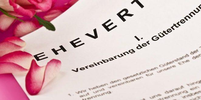 Ehevertrag Alle Infos Zur Vermögensaufteilung Nach Der Scheidung