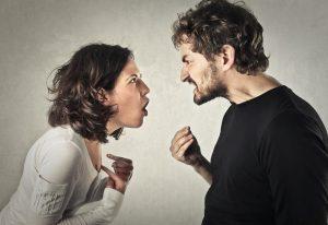 Streit eines Paares
