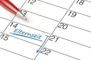 Elternzeit als Termin im Kalender markiert