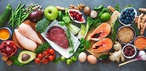 Ein Mix aus gesunden Lebensmitteln