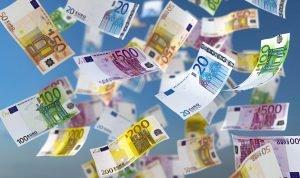 euroscheine regnen vom himmel