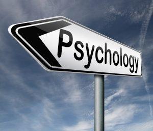 Schild mit der Aufschrift Psychologie
