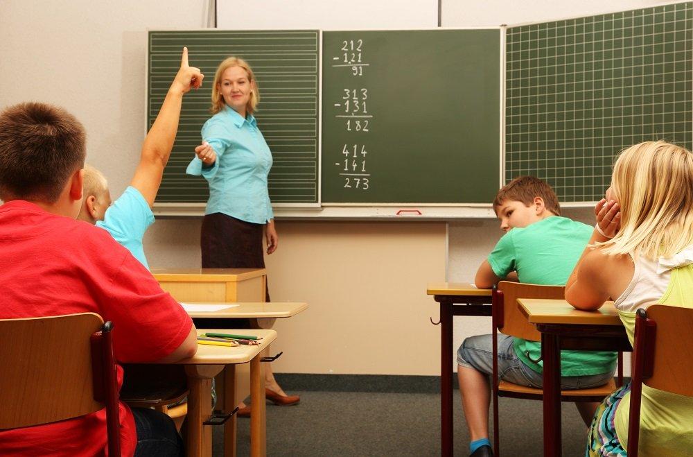 frontalunterricht im fach mathematik