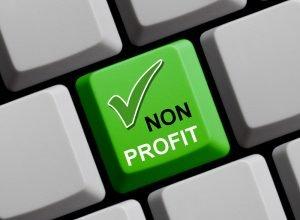 """grüne Taste mit der Aufschrift """"non profit"""""""