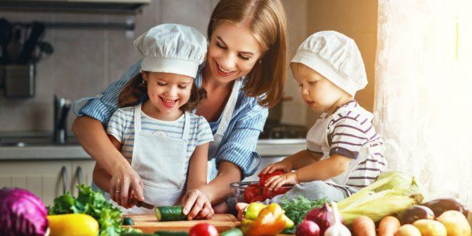 Ausgewogene Ernährung zum Beispiel Kinder