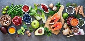 gesunde Nahrungsmittelauswahl Obst Gemüse