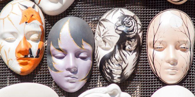 Gipsmasken mit Kindern basteln