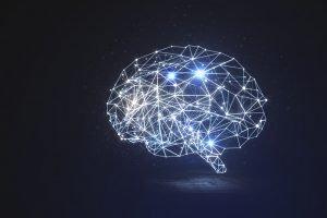 Gehirn mit Synapsen