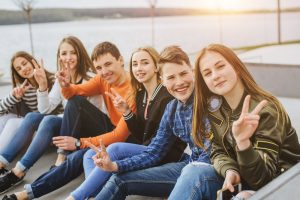 jugendgruppe im freien