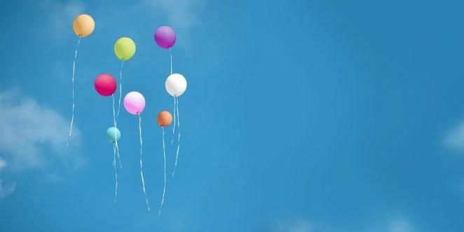 bunte Ballons für den Kindergeburtstag