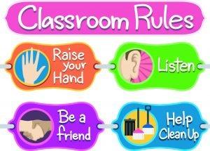 plakat mit klassenregeln