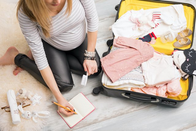 Geburtsvorbereitung: Kliniktasche packen
