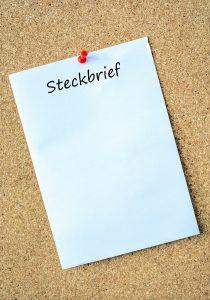 leerer Steckbrief