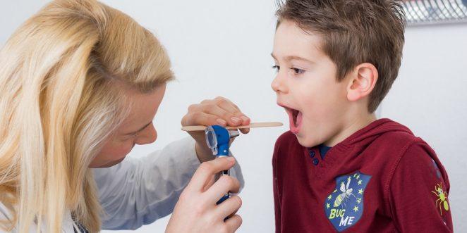 Mandelentzündung bei einem Kind
