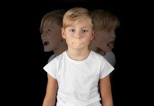 Kind in verschiedenen Stimmungen