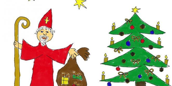 Kinderbild zu Weihnachten