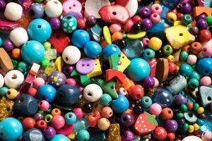 bunte Perlenmischung