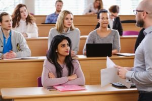 Psychologiestudenten im Hörsaal