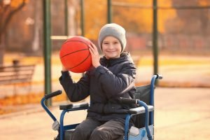 Kind mit Körperbehinderung