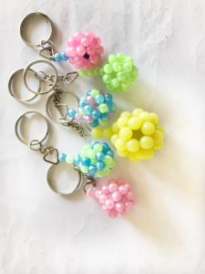 schluesselanhaenger mit perlen basteln
