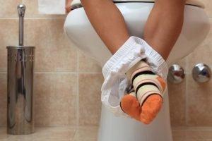 schmerzen auf toilette