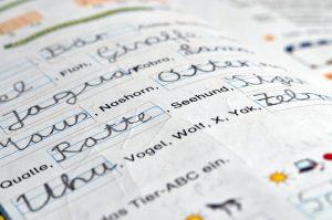 Übungsheft für Schreibschrift in der Grundschule