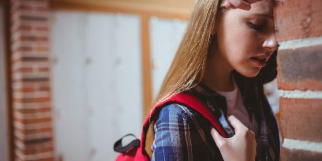 Mädchen mit Schulangst