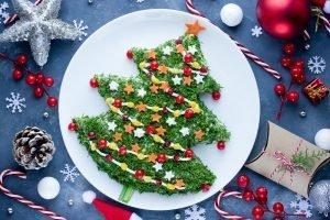 gesunder Tannenbaum aus Gemüse