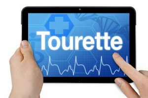 Tablet mit Diagnose Tourette-Syndrom