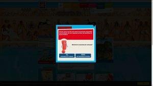 Screenshot des Warnhinweises auf der Website Was ist was