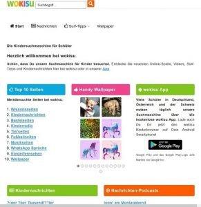 Screenshot der Website wokisu